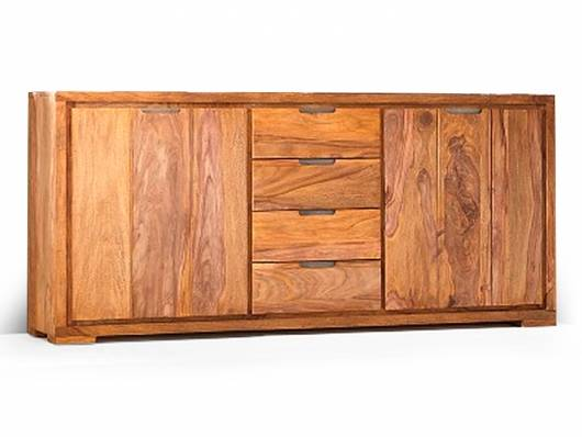 WHITNEY Mountain Sideboard, Material Massivholz, sheesham gebeizt