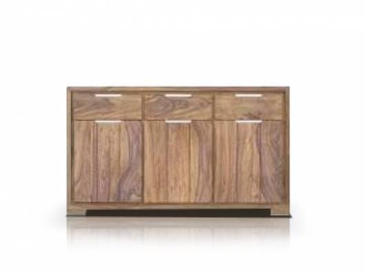 WHITNEY Massivholz Sideboard, Material Massivholz, sheesham gebeizt