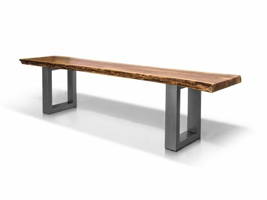 DALIN Sitzbank, Material Massivholz/Metall, Akazie massiv/ Metallfüße