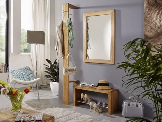 VERONA Garderobe, Material Massivholz, Wildeiche geölt
