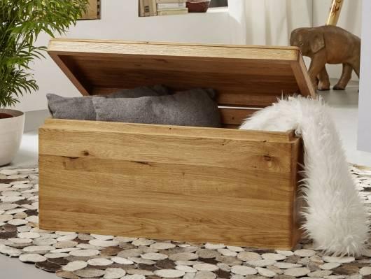 VERONA Truhe, Material Massivholz, Wildeiche geölt