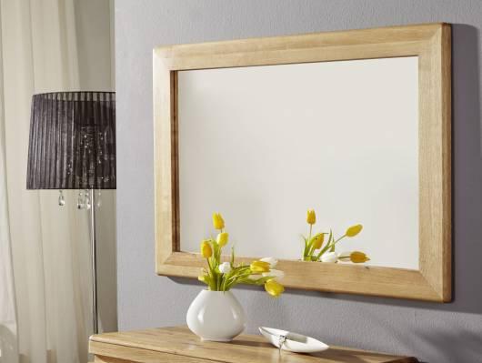 VERONA Spiegel 100x70 cm, Material Massivholz, Wildeiche geölt
