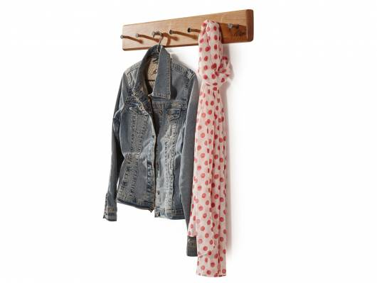 VERONA Garderobenleiste, Material Massivholz, Wildeiche geölt