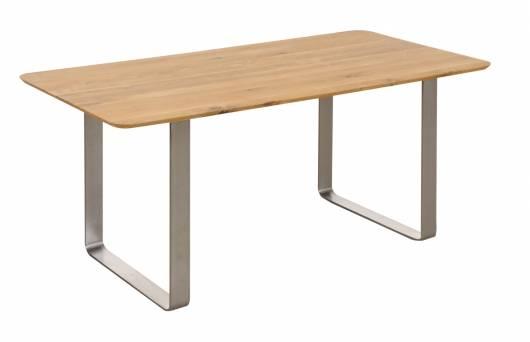 OKER Esstisch, Material Massivholz/Metall, Wildeiche geölt