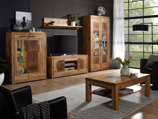 WINSTON Wohnwand, Material Massivholz, Wildeiche geölt