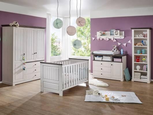 TINKA Babyzimmer Kiefer weiß/grau