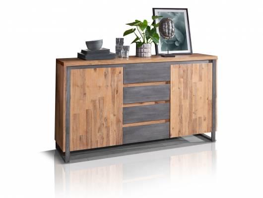 MALAGA Sideboard II, Material Massivholz,  Akazie gebürstet