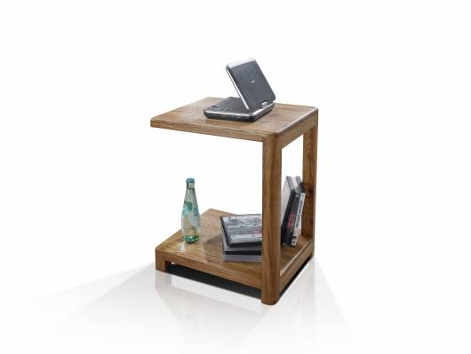 VERONA Laptop Tisch, Material Massivholz, Wildeiche geölt
