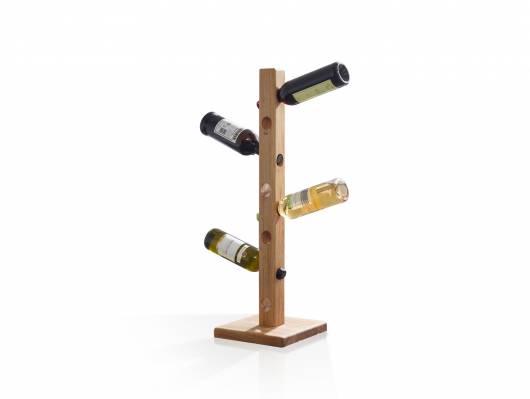VERONA Weinständer klein, Material Massivholz, Wildeiche geölt