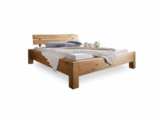 GIDEON Doppelbett 180x200 cm Wildeiche geölt, Material Massivholz