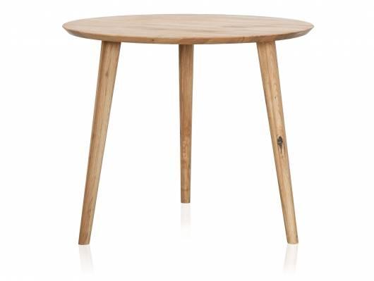 ASCON Esstisch, rund, Material Massivholz, Wildeiche