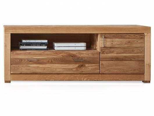 ALANDO Lowboard III, Material Massivholz, Wildeiche geölt