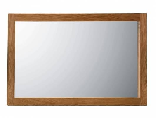 ALANDO Spiegel 130x70 cm, Rahmen Massivholz, Wildeiche geölt