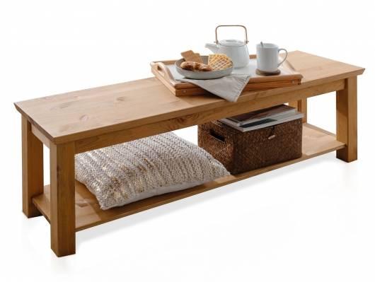 PALERMO Bettbank / Sitzbank, Material Massivholz,  Kiefer eichefarbig gebeizt