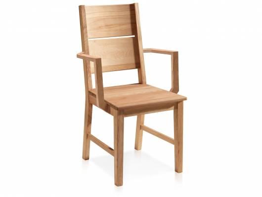 KAI Esstischstuhl mit Armlehnen, Material Massivholz, Wildeiche geölt