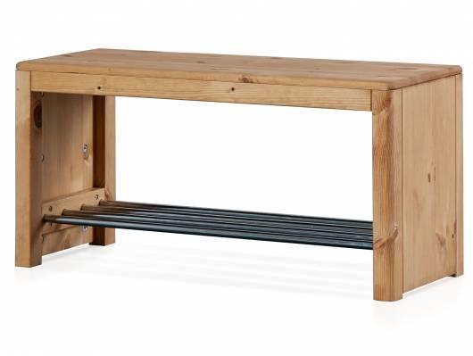 RICHY Schuhregal, Material Massivholz, Kiefer eichefarbig gebeizt