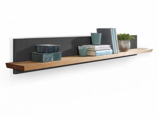 BORNHOLM II, Material Massivholz, Wandboard Kiefer grau/eichefarbig