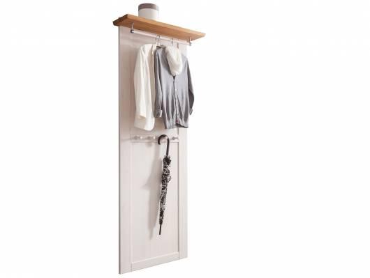 BORNHOLM Garderobenpaneel, Material Massivholz, Kiefer weiss/eichefarbig