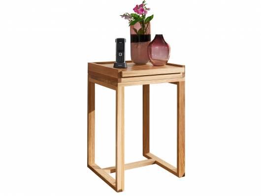MARITA Telefontisch, Material Massivholz, Wildeiche geölt