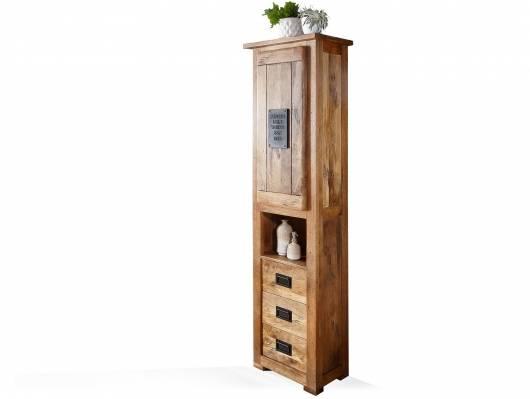 BRISTOL Standregal hoch fürs Badezimmer, Material Massivholz, Mango rustikal