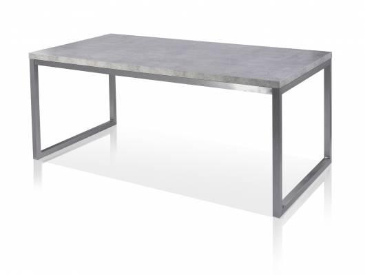 JONATHAN Esstisch 180x90 cm, Material MDF, betonfarbig