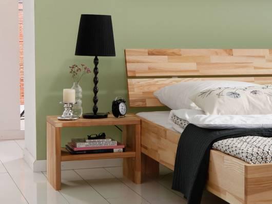 LÖWEN/Woodline Nachtkommode, Material Massivholz, geölt