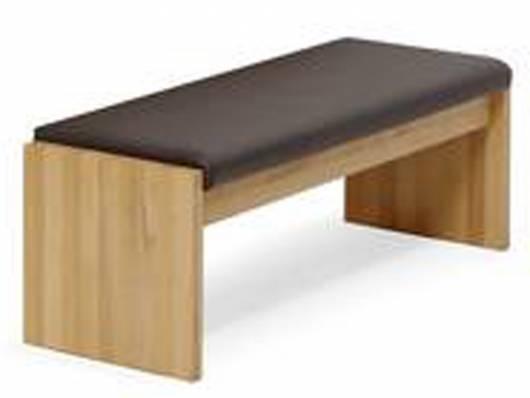 GENIA Esstischbank Sitzbank nach Maß, Material Kunstleder/Massivholz