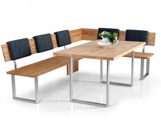 FELI Maß - Kufentisch U-Fuß, Material Massivholz/Edelstahl