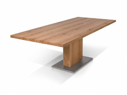 BENNIE Esstisch nach Maß, Material Massivholz/Edelstahl
