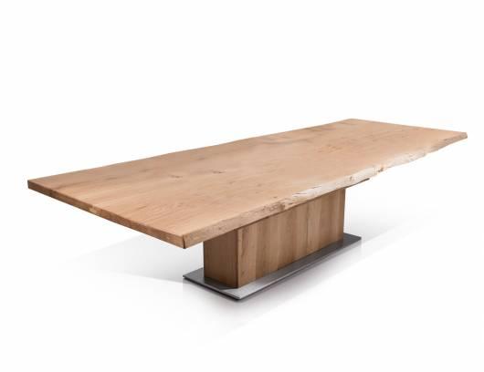 KOLOSS Esstisch nach Maß, Material Massivholz/Edelstahl