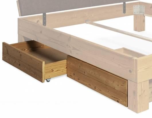CURBY 2er Set Bettschubladen klein gerade Thermo-Fichte