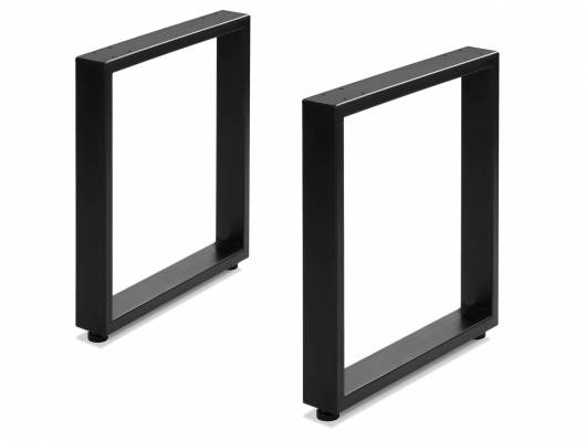 1 Paar Gestelle für Sitz- und Eckbänke, 400x420 mm, Material Stahl, schwarz