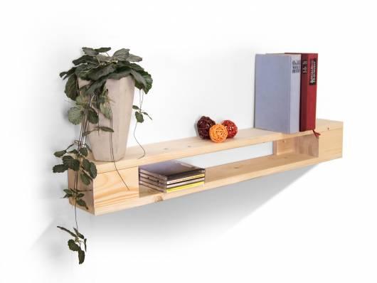 PALETTI Wandregal 90 cm, Material Massivholz