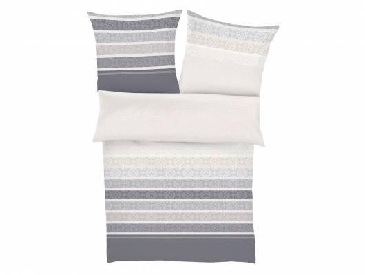 mako satin bettw sche grau ornamente 135x200 80x80. Black Bedroom Furniture Sets. Home Design Ideas
