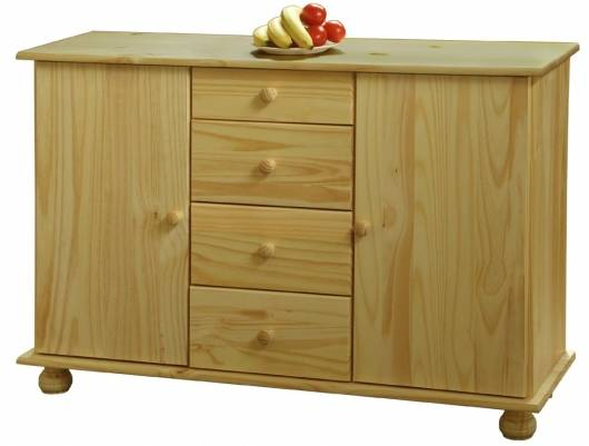 BERNA Sideboard / Kommode Buffet, Material Massivholz, Kiefer