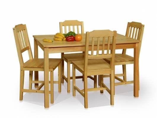 DINING Esstischgruppe/Dining Set Pine wood, Material Massivholz