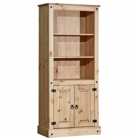 COLMAN Bücherregal, Material Massivholz, Kiefer honig gewachst