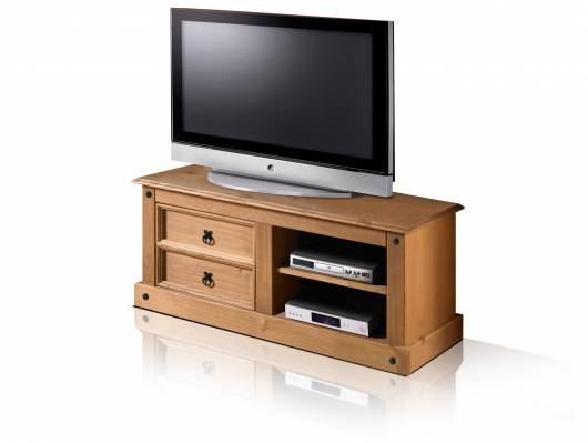 COLMAN TV-Rack/Lowboard, Material Massivholz, Kiefer honig gewachst