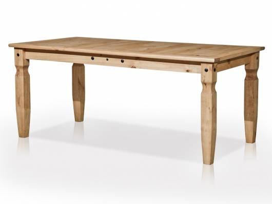 COLMAN Esstisch 180x90 cm, Material Massivholz, Kiefer honig gewachst