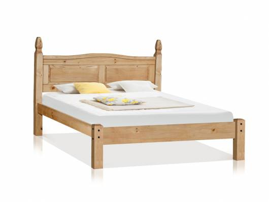 COLMAN Doppelbett / Einzelbett, Material Massivholz, Kiefer honig gewachst