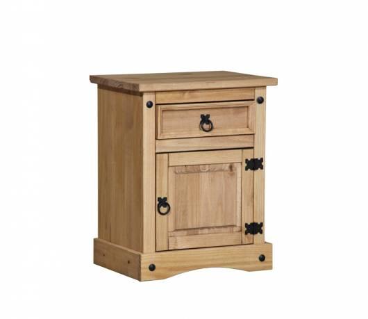COLMAN Nachtkommode, Material Massivholz, Kiefer honig gewachst