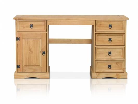 COLMAN Schreibtisch, Material Massivholz, Kiefer honig gewachst
