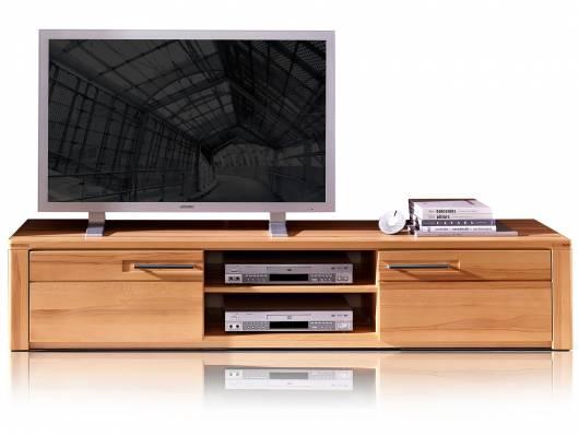 NESTOR PLUS TV-Unterteil 2 Schubkästen+2 Fächer, Material Teilmassiv, Kernbuche lackiert
