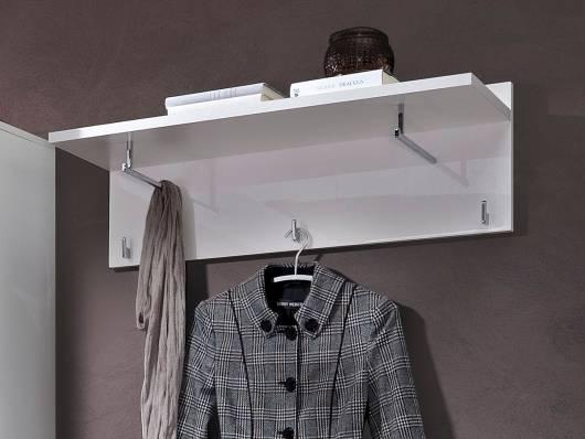 LIVE Garderobenpaneel, Material Dekorspanplatte, weiss