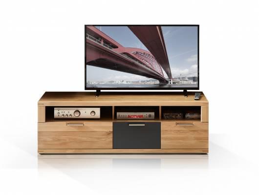 BIANCA I TV-Unterteil, Material Teilmassiv, Wildeiche
