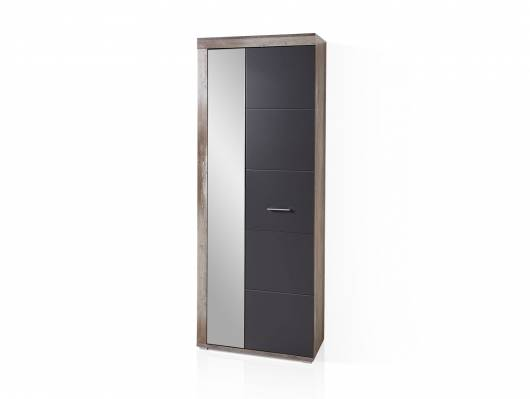 CAMENA Garderobenschrank mit Spiegel, Material MDF