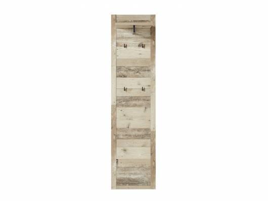 RAMINA Garderobenpaneel schmal, Material Dekorspanplatte, Used Style braun/anthrazit