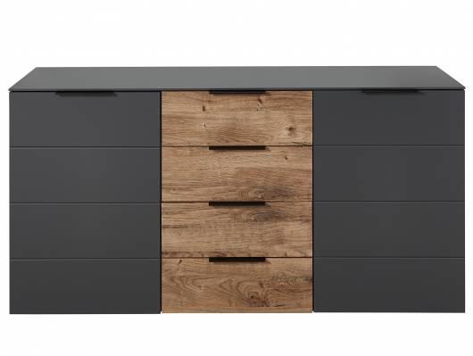 MOSANTA Sideboard, Material MDF, eichefarbig /graphitfarbig