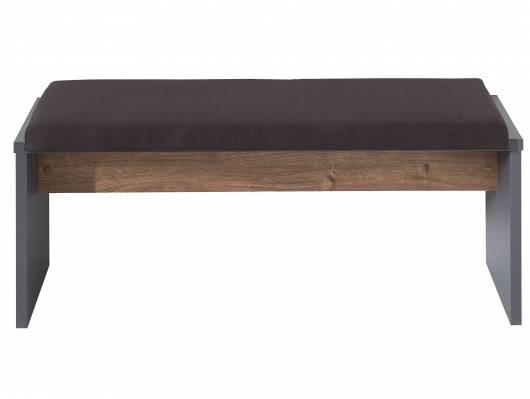MOSANTA Bank mit Sitzkissen, Material Dekorspanplatte, eichefarbig/graphitfarbig