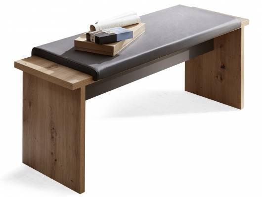 LAMBADA  Sitzbank mit Klemmkissen, Material Dekorspanplatte, eichefarbig/graphitfarbig